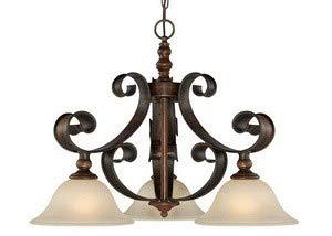 Craftmade Lighting 28072-SPZ Seville - Three Light Pendant, Spanish Bronze Finish with Creamy Frosted Glass