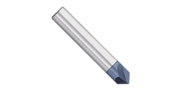 1//8 Diameter AlTiN Coated 1-1//2 Overall Length 90 Degree 1//8 Shank Kodiak Cutting Tools KCT252817 USA Made Solid Carbide Chamfer Mill 2 Flute