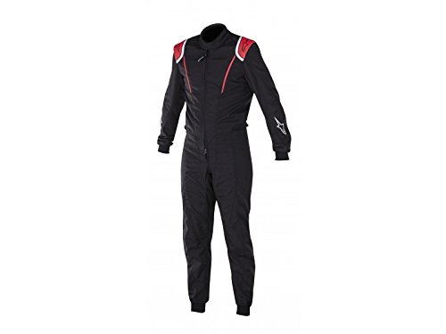 Alpinestars 3351017-13-58 Super K-MX 1 Suit, Black/Red, Size 58, CIK FIA Level 2, 2-Layer by Alpinestars