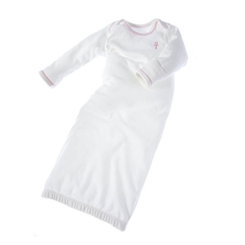 little-pharo-100-extra-long-staple-egyptian-cotton-bundler-nightgown-ivory-with-pink-piping-size-3-6