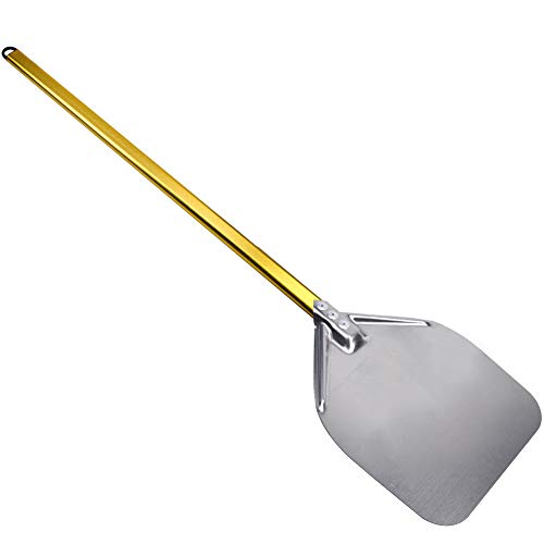 Peel Pizza Stainless Steel - SHANGPEIXUAN Pizza Peel Stainless Steel for Oven Long Handle Pizza Shovel Pizza Paddle 12 Inch in Kitchen Supply Pizza Turner Golden ...