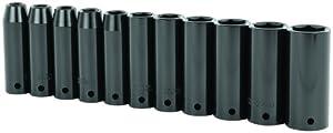 Stanley 97-126 11 Piece 1/2-Inch Drive Metric Deep Impact Socket Set
