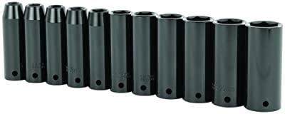 Stanley 97-126 11 Piece 1/2-Inch Drive Metric Deep Impact Socket Set from Stanley