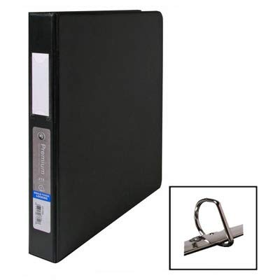 Wilson Jones Locking No-Gap D-Ring Vinyl Binder, 1quot; Capacity, Black 87600