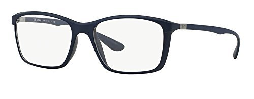 Ray-Ban Eyeglasses RX7036-5439 Matte Dark Blue Frame, Demo Clear Lenses - 55 16 - Rx Ray Ban Lenses