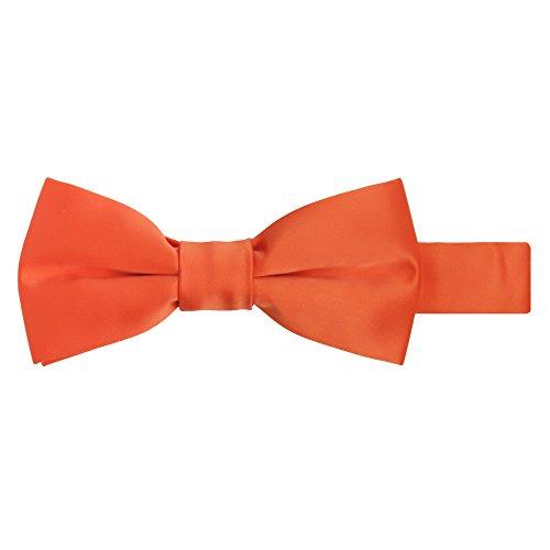 Bowties Orange (Jacob Alexander Boy's Kids Pretied Banded Adjustable Solid Color Bowtie - Orange)
