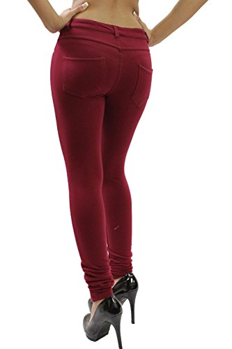 ware Home outlet Rouge Bordeaux Jeans Femme TwvOxgq0