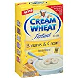 Cream Of Wheat Bananas & Cream Instant Hot Cereal 12.3 oz (Pack of 12)