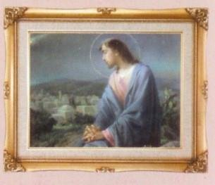 Jesus Overlooking City Framed Art by Discount Catholic Store
