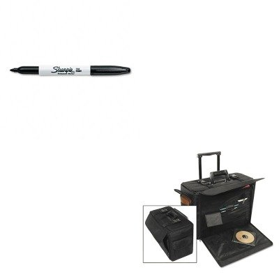 KITSAN30001STB261710BLK - Value Kit - Stebco Rolling Catalog/Computer Case (STB261710BLK) and Sharpie Permanent Marker (SAN30001)