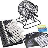Lulu Home Bingo Game Set, Christmas Bingo Cage Include White Balls, Bingo Chips, 18 Bingo Cards, 8 Inch