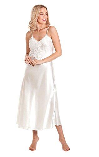 Ladies Satin Nightdress Style N50 Ivory Size 22-24