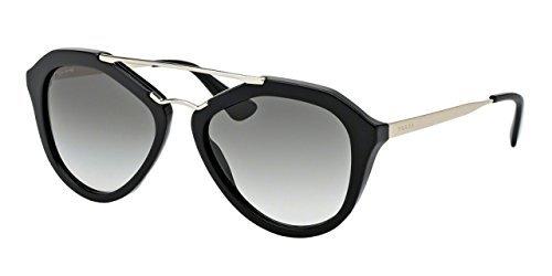 Prada CINEMA PR12QSA Sunglasses 1AB0A7-54 - Black Frame, Grey ...