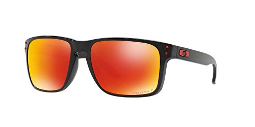 Oakley Mens Sunglasses Black/Red - Polarized - - Holbrook Oakley Red