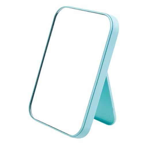 Coobbar Desktop Makeup Mirror,Foldable Makeup Mirror Simple Portable Princess Mirror Square Mirror -