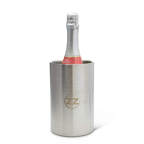 Stainless Steel Wine Cooler Bucket for all bottles (up to 1.5L) – Insulated Long Lasting Wine or Champagne Chiller Bucket – Bottle Holder for Restaurant, Bar or Indoor/Outdoor Parties