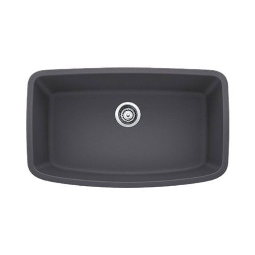 - Blanco 441611 Valea Super Undermount Single Bowl Kitchen Sink, Large, Cinder