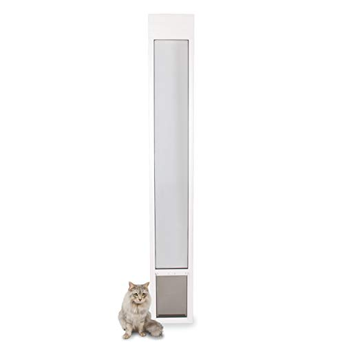 Freedom Dog Metal Door - PetSafe Freedom Aluminum Patio Panel Sliding Glass Dog and Cat Door, Adjustable 76 13/16