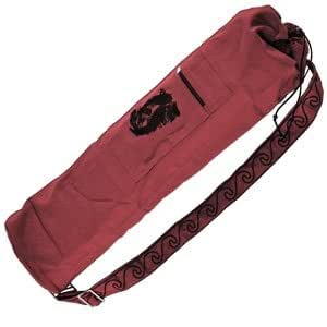 Amazon.com: Embroidered Cotton Yoga Mat Bag: Kitchen & Dining