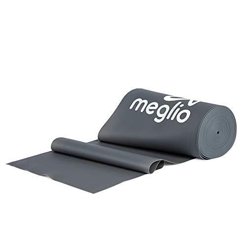 MEGLIO Bandas Elasticas Musculacion sin Latex–Rollo de 8 Metros Variedad en Resistencia - Cinco Niveles Desde Extra Suave hasta Extra Fuerte
