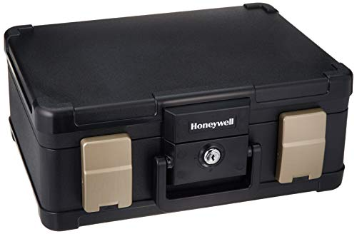 HONEYWELL - 30 Minute Fire Safe Waterproof Safe Box Chest with Carry Handle, Medium, 1103 ()