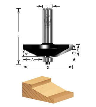 Timberline 420-30 Raised Panel Bit