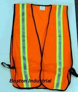 G & F 41113 Industrial Safety Vest with Reflective Stripes, Neon Orange -