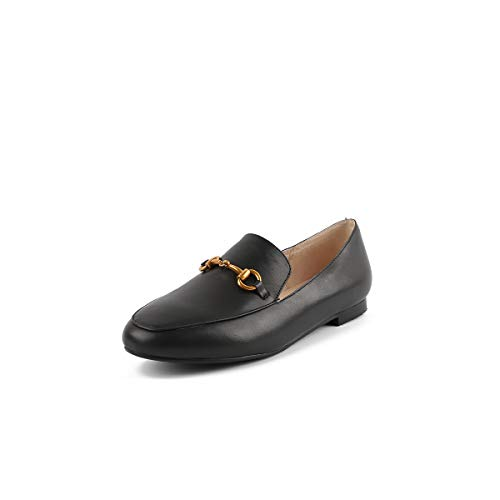 Women's Round Shallow Mouth Flat Black Casual Head Shoes 5rqwBCrxP8