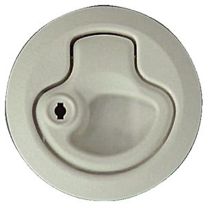 (Teak Isle Southco Locking Plastic Flush Latch (White))