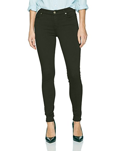 7 For All Mankind Women's Ankle Skinny Jean in Solid Color, Central Green, 32 (Skinny 7 Mankind All Jeans)