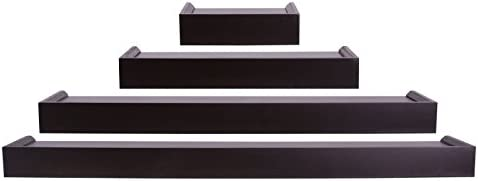 Kiera Grace 4 Piece Floating Shelves Ledge Set Home Decor Wall Shelving For Living Room Bedroom Office