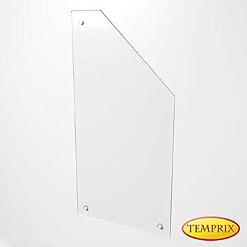 Glas wand als Hitzeschutz /& M/öbelschutz Wandschutz f/ür Kamin /& Ofen Funkenschutz aus Glas Falun
