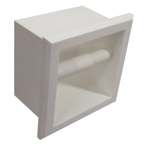 WG Wood Products Bevel Frame Recessed Plastic Toilet Paper Holder