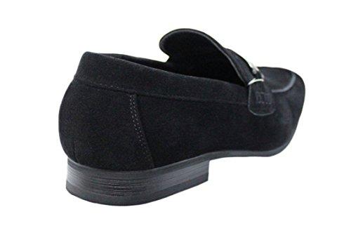Mocassini uomo man's quality top casual eleganti neri scarpe shoes Tfq4rT