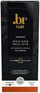 Café em Cápsulas Mogiana Paulista Int 6 .Br Gold, Compatível com Nespresso, Contém 10 Cápsulas