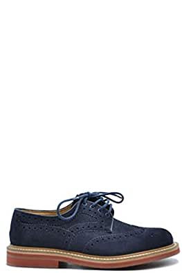 Church's Luxury Fashion Mens MCBI38380 Blue Lace-Up Shoes | Season Outlet