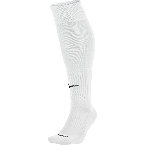 NIKE Unisex Academy Over-The-Calf Soccer Socks, White/Black, Large by NIKE