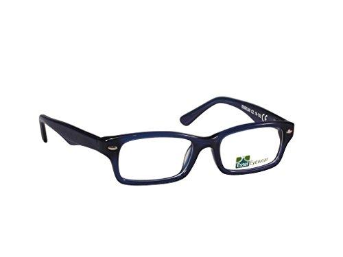 ES80 (Blue, 45) - Rimless Tortoise Shell Eyeglasses