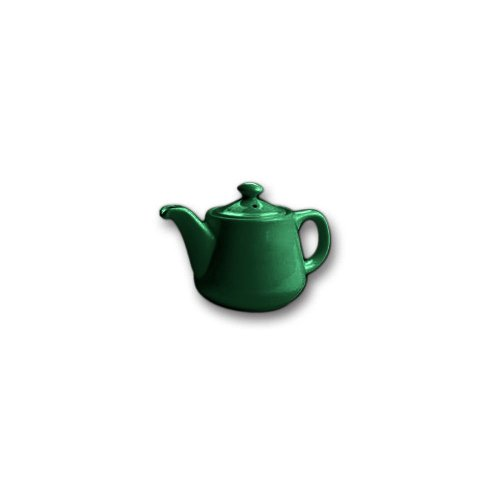 Hall China Forest Green 12 Oz. Tea Pot with No Drip Spout