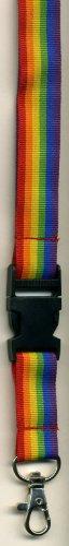 (Rainbow Stripes-Neck Lanyard Id-key Holder)