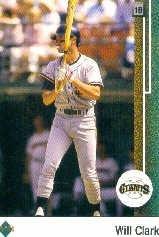 (1989 Upper Deck Baseball Card #155 Will Clark )