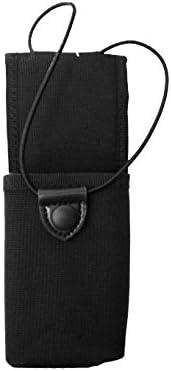 Uncle Mike's Law Enforcement 88804 Kodra Duty Nylon Web Universal Radio Case with Fixed Belt Loop, B