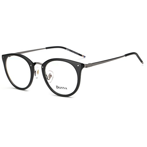 DONNA Stylish Clear Lens Glasses Samll Circle Frame Blue Light Blocking for Computer DN08-YF