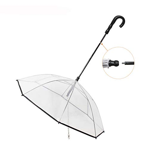 Pet Dog Umbrella, Remove The Uncomfortable Dog Raincoat with Leash for Small Pets Puppies 20 Inches Back Length -