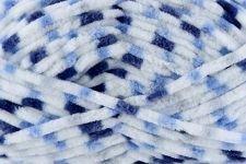 Universal Yarn Bella Chenille Multi 203 Yarn, Denim Patch