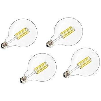 (4 Pack) Led Vintage Edison Bulb G30/G95 6W LED Light Filament Bulb