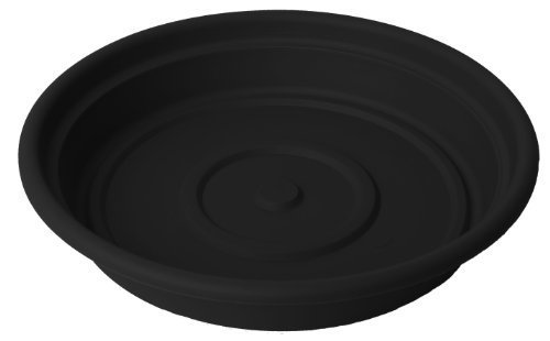 Bloem SDC1000-24 24-Pack Dura Cotta Plant Saucer, 10-Inch, Black by Bloem by Bloem