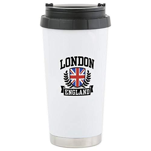 CafePress London England Stainless Steel Travel Mug Stainless Steel Travel Mug, Insulated 16 oz. Coffee - Oz 16 United Travel Mug