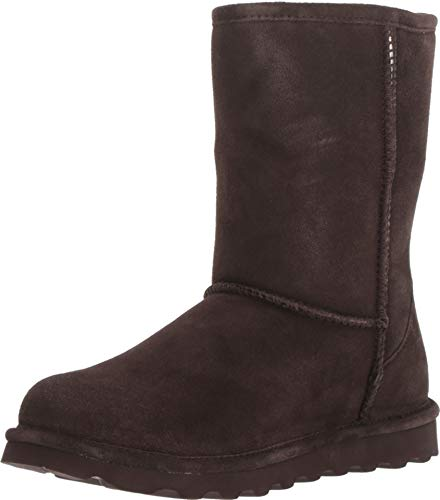 BEARPAW Women's Elle Short Winter Boots, Chocolate, Size 11 Wide US