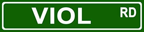 - Makoroni - Viol Music Instrument Novelty Street Sign Aluminum Metal 4x18 inc
